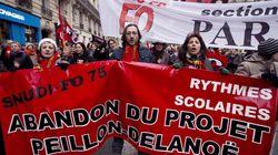 Rythmes scolaires: grève à Paris et vote de la réforme au