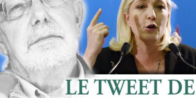 Le tweet de Jean-François Kahn - Continuez comme ça, Marine Le Pen est