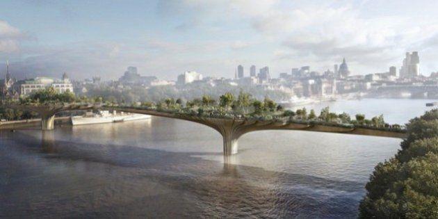 PHOTOS. Londres: un pont-jardin sur la Tamise, peut-être en