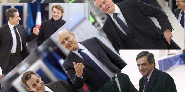 Sarkozy met en images son rassemblement sur le perron de l'UMP... comme à