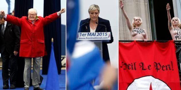 1er mai du FN: le défilé raté de Marine Le Pen, entre Femen, pluie et