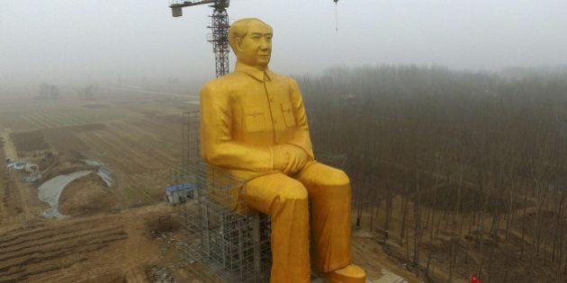 PHOTOS. La statue géante de Mao détruite pour des raisons mystérieuses en