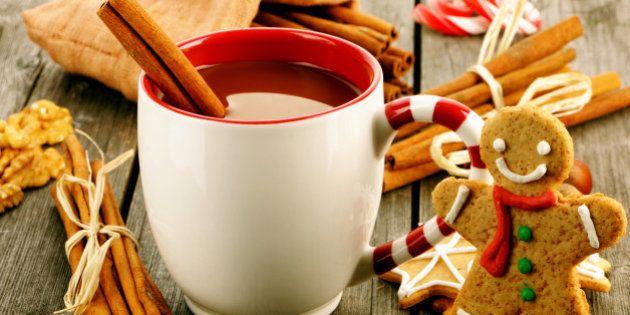 mug of hot chocolate on wooden...
