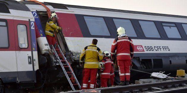 Suisse: une collision entre deux trains a eu lieu au nord de