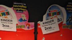 Ces Kinder Surprise sont plus chers pour les filles que pour les