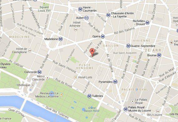 PHOTOS. Paris: braquage spectaculaire d'une bijouterie rue de la Paix, deux hommes