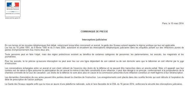 Écoutes de Sarkozy par la justice: les avocats contre-attaquant, Taubira