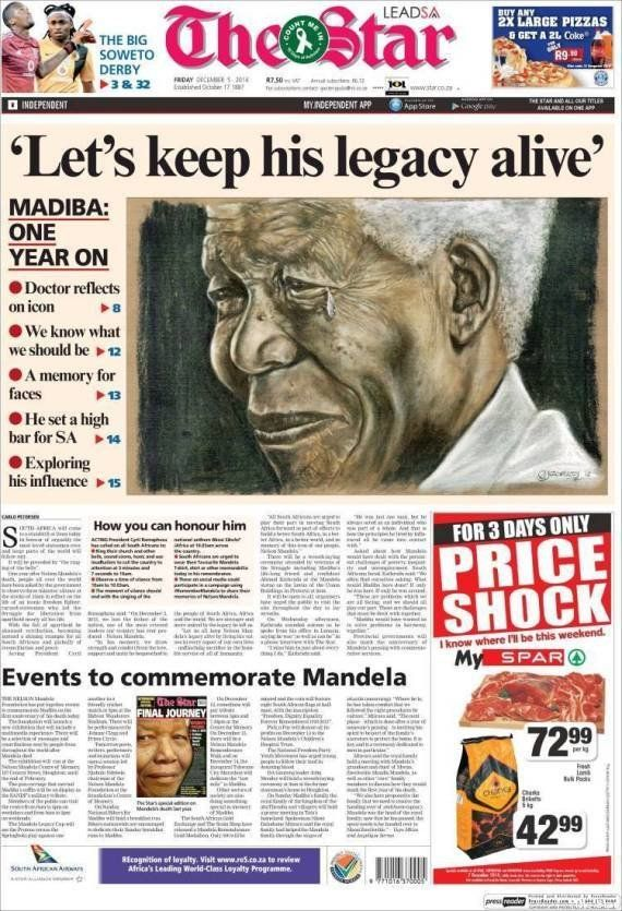 PHOTOS. Mort de Nelson Mandela: l'Afrique du Sud lui rend hommage un an