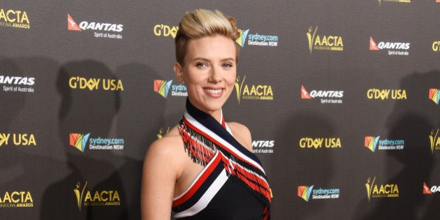 Scarlett Johansson attends the 2015 G'DAY USA GALA at the Hollywood Palladium on Saturday, Jan. 31,...