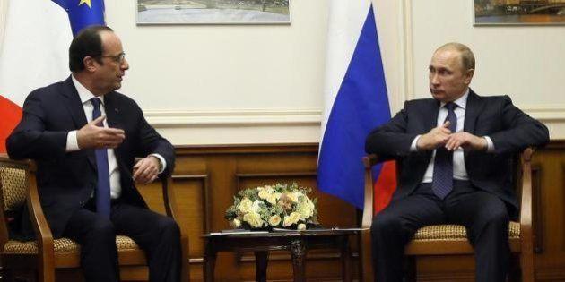 François Hollande rencontre Vladimir Poutine à Moscou pour échanger sur la crise