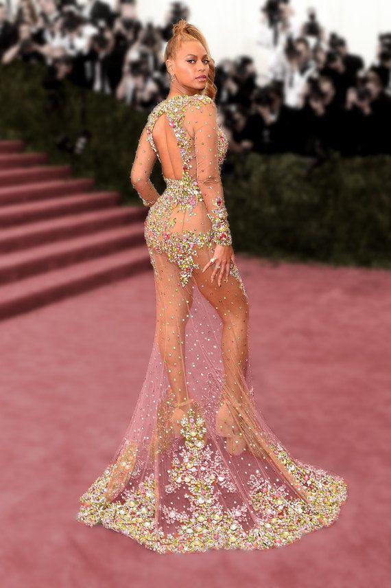 PHOTOS. Au MET Gala 2015, Beyoncé dans une robe transparente et les tenues les plus marquantes du tapis