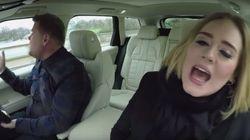 Adele qui chante du Adele dans une voiture ça ne rend pas comme