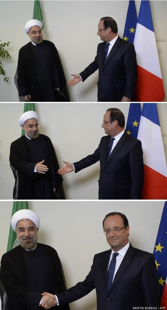 Les mains serrées