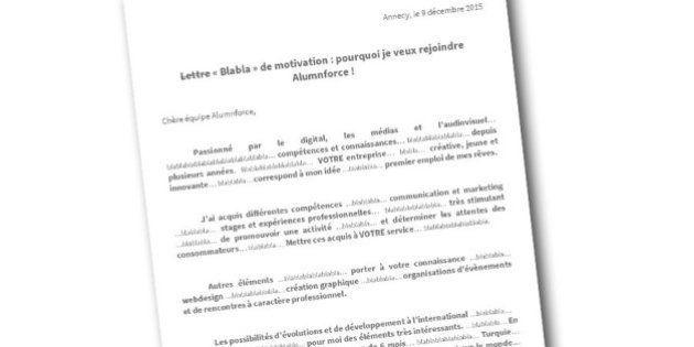 Il A écrit Blablabla Dans Sa Lettre De Motivation Et A