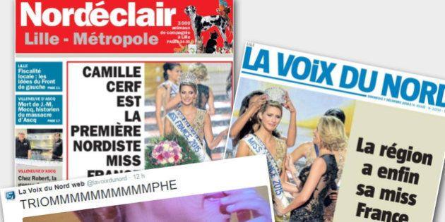 Camille Cerf élue Miss France 2015 : Le Nord s'emballe après la victoire de sa