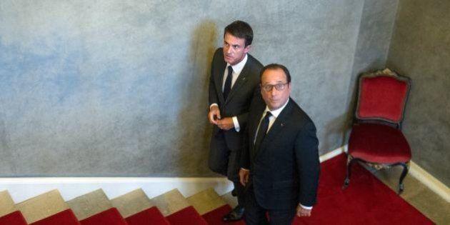 Popularité: François Hollande et Manuel Valls chutent lourdement en janvier