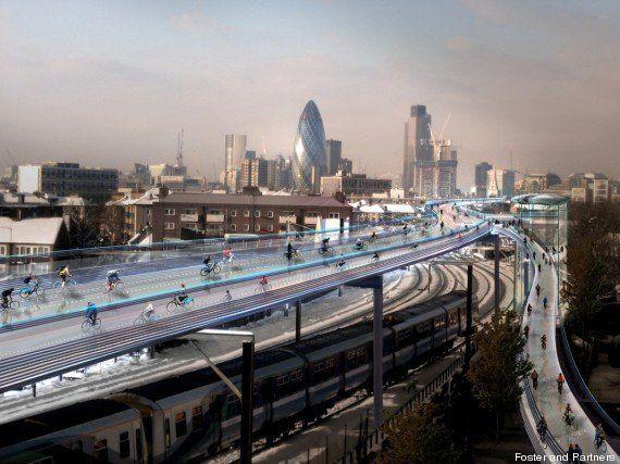 SkyCycle : le projet de pistes cyclables aériennes au coeur de Londres