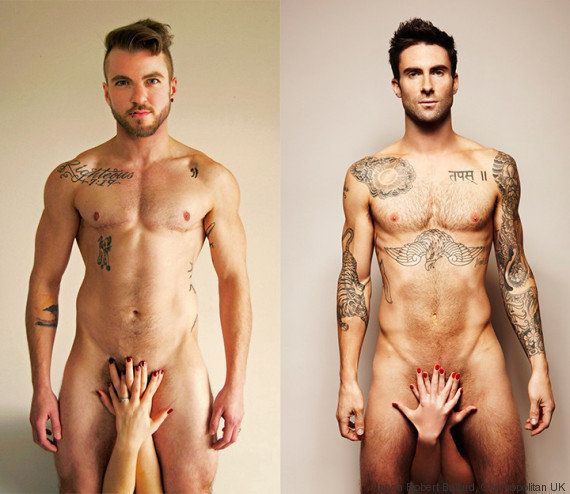 PHOTOS. Un transgenre revisite une célèbre photo d'Adam Levine contre le