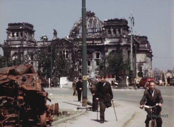 VIDÉO. Seconde Guerre mondiale: des images inédites de Berlin en juillet