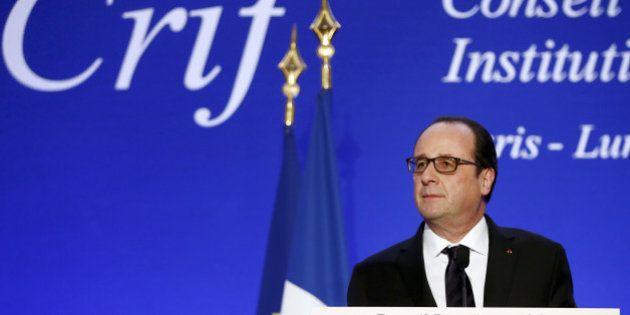 François Hollande au dîner du Crif: