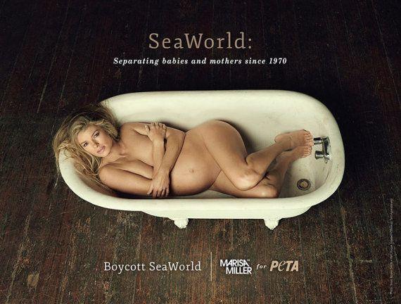 Marisa Miller nue dans un baignoire (pour la bonne
