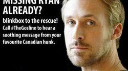 Ryan Gosling ouvre une hotline pour les fans en