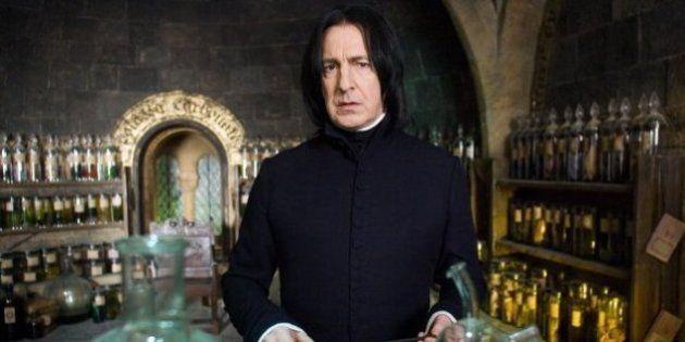 L'acteur Alan Rickman, alias Severus Rogue dans