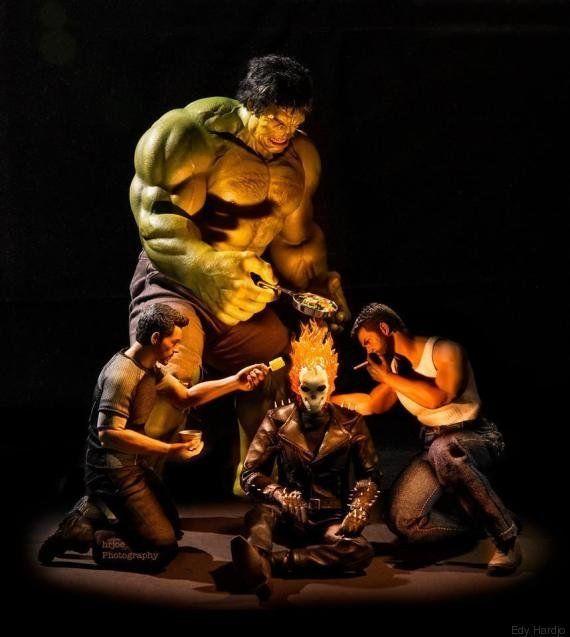 PHOTOS. Avengers : leurs secrets du quotidien vus par le photographe Edy