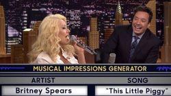 Christina Aguilera imite Britney Spears à la