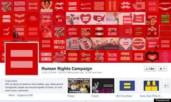 IMAGES. Mariage gay: le logo de Human Rights Campaign détourné sur Facebook et