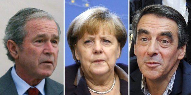 Chute de Merkel: de Fillon à Bush, d'autres personnalités ont déjà subi des petites