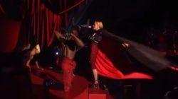 La grosse chute de Madonna aux Brit