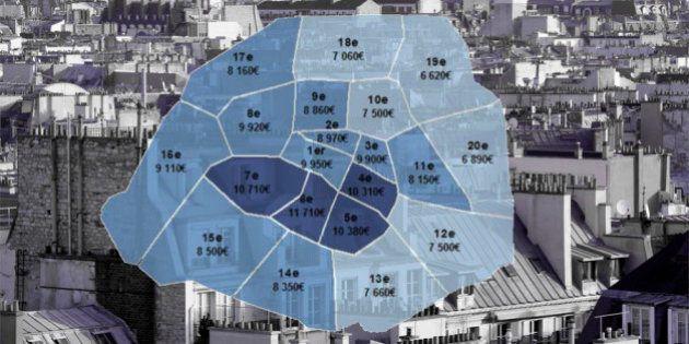 Prix de l'immobilier: le détail des baisses à Paris, arrondissement par