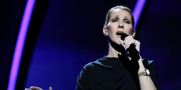 Singer, Céline Dion rehearses at the Kodak Theatre in the Hollywood section of Los Angeles, Friday,...
