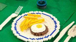 En cas de petite faim, des plats en Lego qu'on aimerait