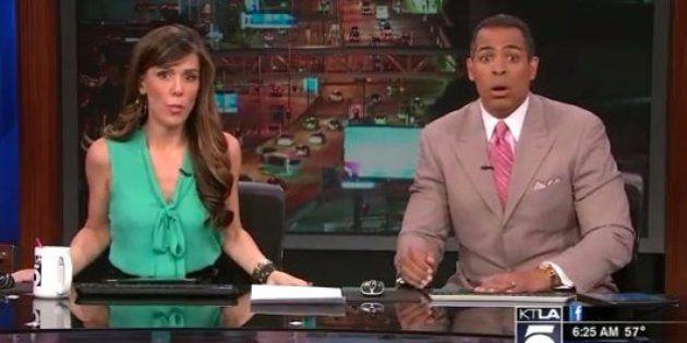 Tremblement de terre à Los Angeles: les présentateurs d'une chaîne locale terrifiés par les