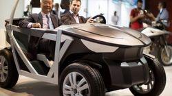 Une voiture électrique en