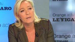 Marine Le Pen se compare au Général de Gaulle, traité de