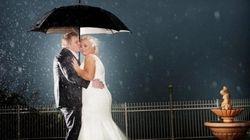 Des photos de mariage magiques, même par mauvais