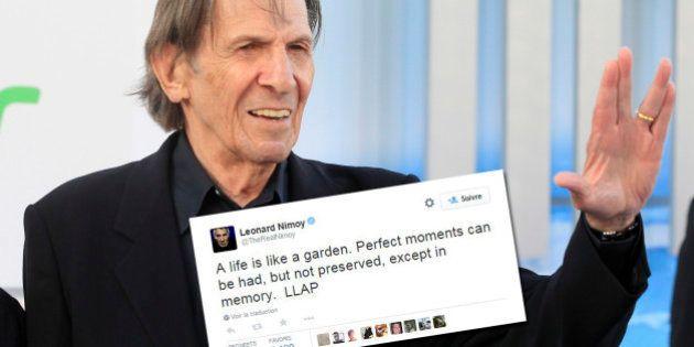 Leonard Nimoy est mort: son dernier tweet est une belle leçon de