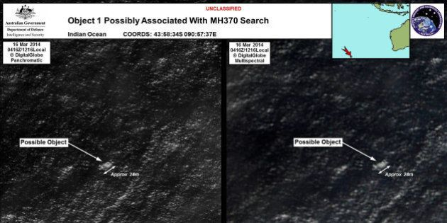 Vol MH370: deux possibles débris repérés au large de