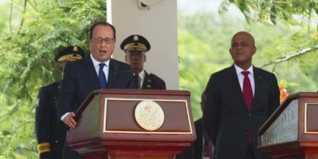 François Hollande en Haïti sur fond de polémique sur l'acquittement de la