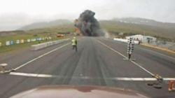 La vidéo impressionnante d'un crash