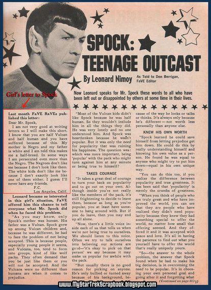 Leonard Nimoy à une jeune métisse: