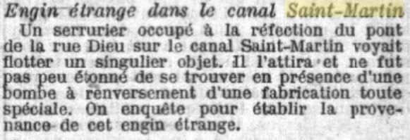 Les découvertes incroyables du canal Saint-Martin depuis