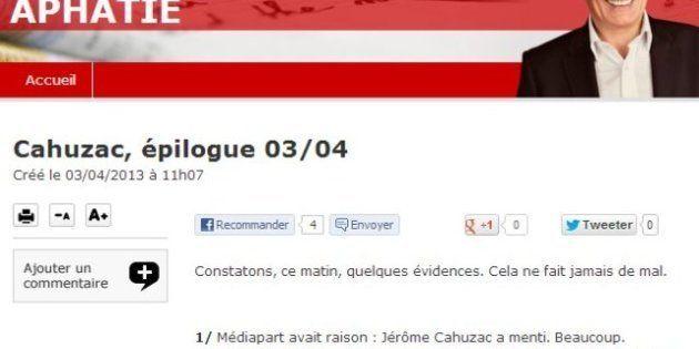 Aveu de Cahuzac: Jean-Michel Aphatie esquisse un début de mea culpa... sur son