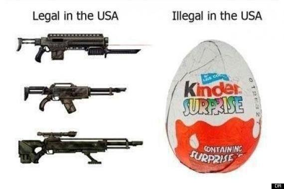 Il est plus facile d'acheter des armes à feu aux États-Unis que des Kinder