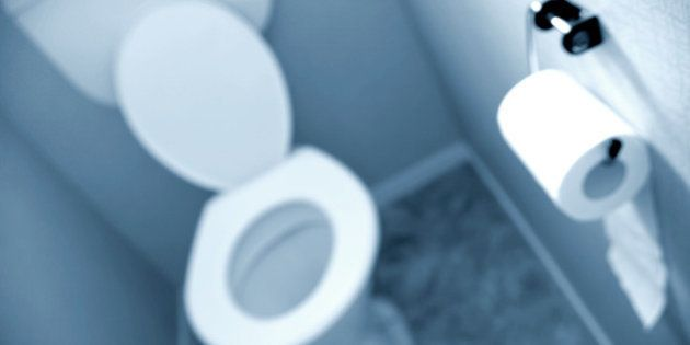 roll of toilet tissue on