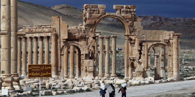 CARTE. La cité antique de Palmyre menacée par l'avancée de