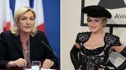 Invitée par Madonna, Marine Le Pen